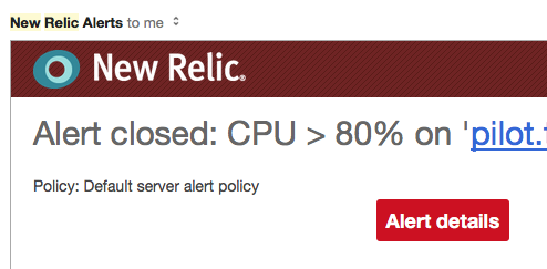 New Relic Alert